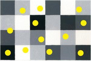 gult mot grått
