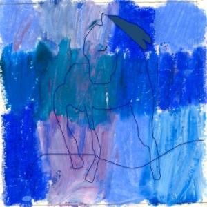 blå ryttare linje