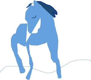 blå ryttare