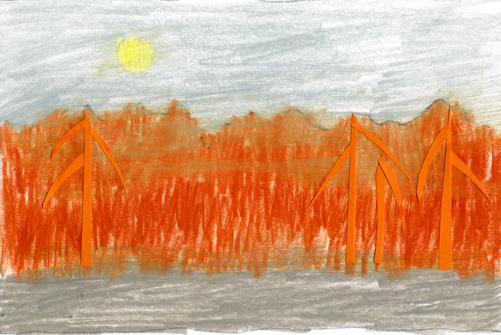orange skog I005
