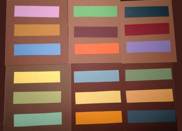Färger till brunt