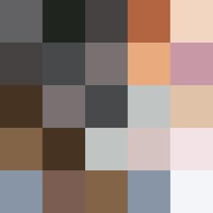 Skaggdopping fargschema