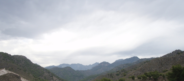 Blånande berg