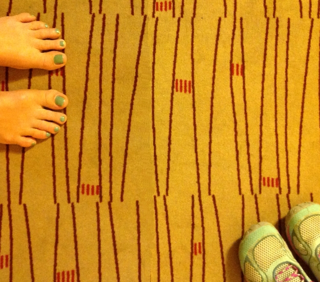 Fot på golv