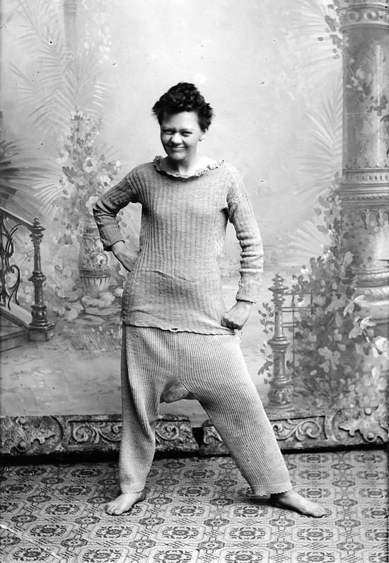 Marie Høeg i undertøy