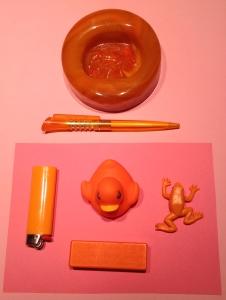 Orange på mörk rosa uppifrån