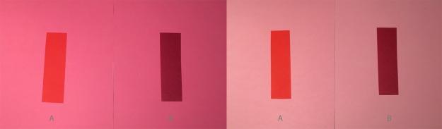 Rött på rosa