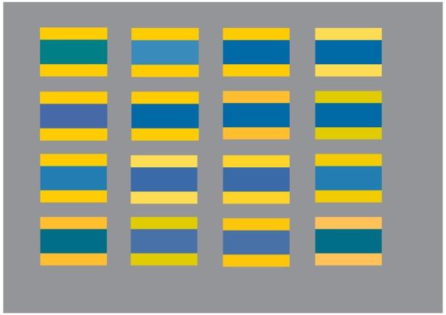 gulblå flaggfärg många