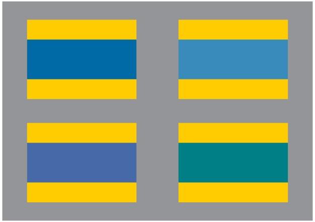 gulblå flaggfärg