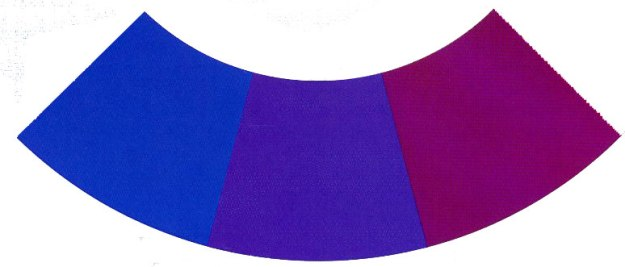 Färgcirkelnblålila